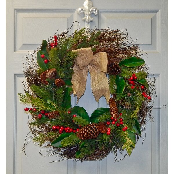 Berry Pine Cone 24 Wreath by The Holiday Aisle