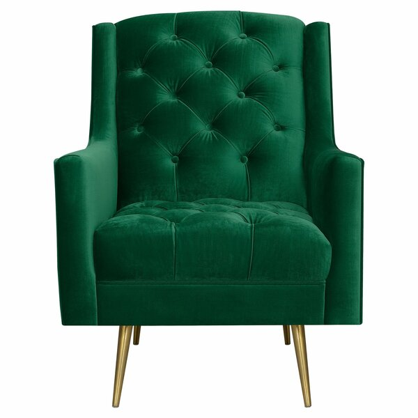 Delvale Wingback Chair by Mercer41 Mercer41