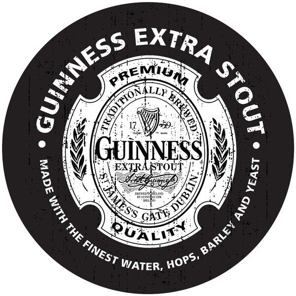 Guinness Wood Swivel Bar Stool by Trademark Global