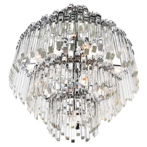 Jemima 15-Light Unique / Statement Tiered Chandelier by House of Hampton House of Hampton