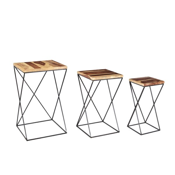 Potter 3 Piece Nesting Table Set by Union Rustic