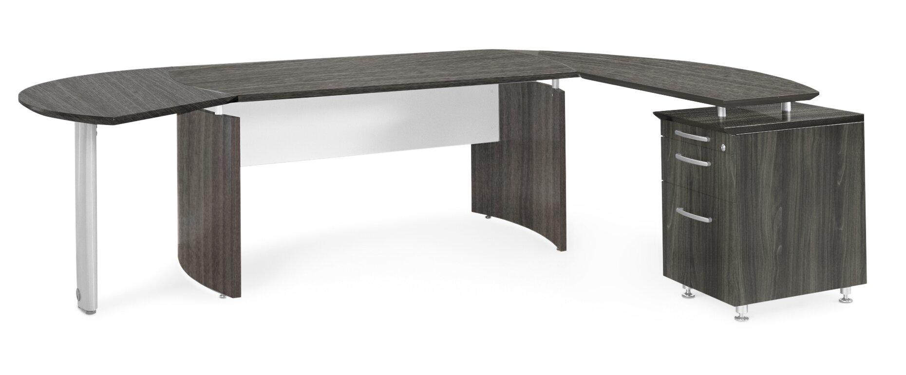 medina series lshape executive desk