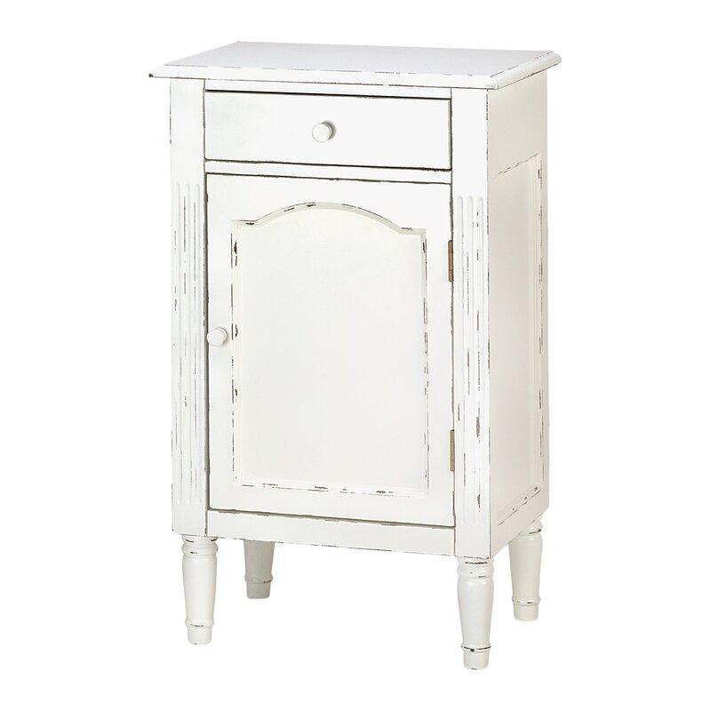 Shabby 1 Drawer Elegance Cabinet nightstand. #nightstands #shabbychic #rusticdecor #furniture #bedroomfurniture #white #sidetables