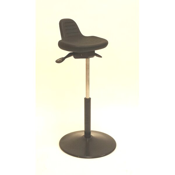 Height Adjustable Sit Stand with Round Metal Base by ShopSol