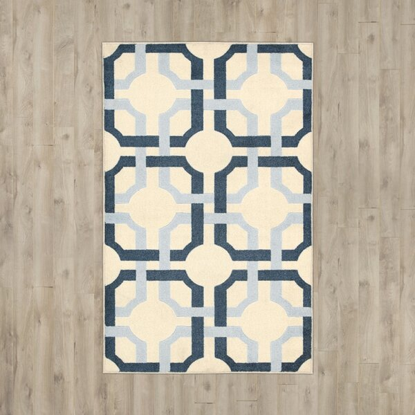 Youngsville Cream/Blue Area Rug by Charlton Home