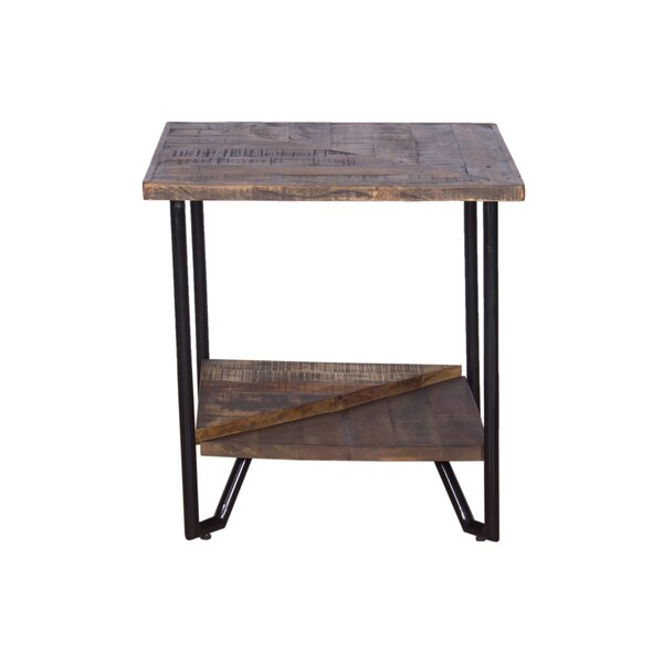 Binford Mixed Wood End Table by Foundry Select