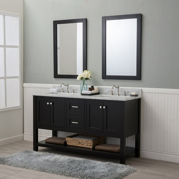 Whiting 60 Double Bathroom Vanity Set by Darby Home Co
