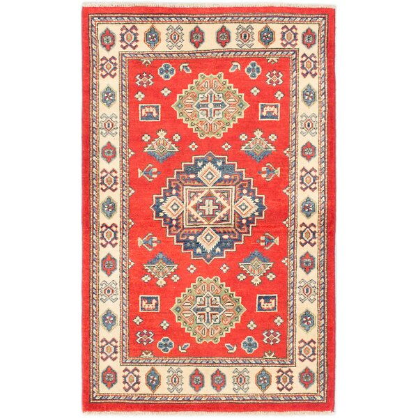 One-of-a-Kind Haws Hand-Knotted Red/Beige Area Rug by Isabelline