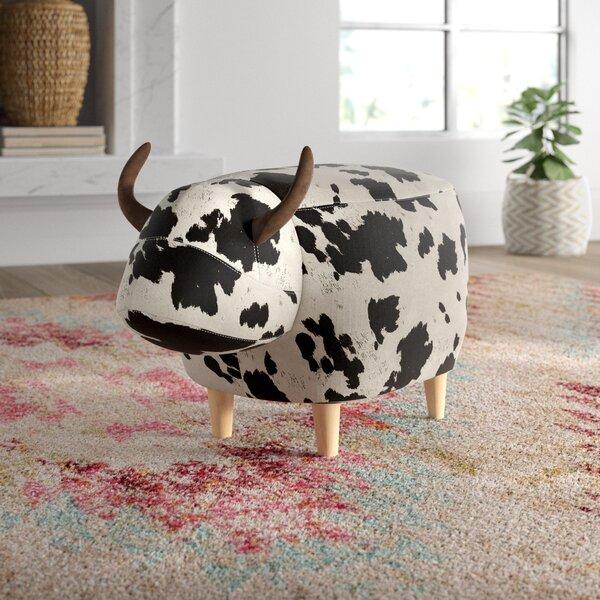 Anahi Cow Ottoman by Mistana