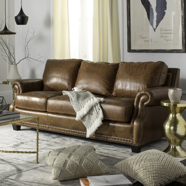 New Trendy Arecibo Leather Sofa by Charlton Home by Charlton Home