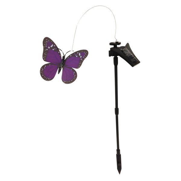 Solar Powered Flickering Monarch Butterfly Garden Stake by Creative Motion