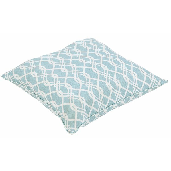 Brookwood Wavy Square Outdoor Floor Pillow by Rosecliff Heights