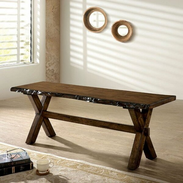 Pierre Wood Bench by Gracie Oaks Gracie Oaks