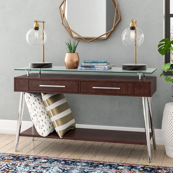 Wade Logan Brown Console Tables