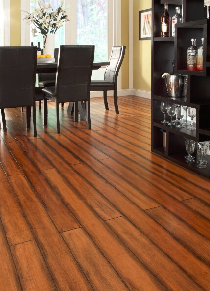 5 Engineered Strand Woven Bamboo  Flooring in Antique Toffee by Easoon USA