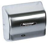 Advantage Standard 100 - 240 Volt Hand Dryer in Satin Chrome by American Dryer