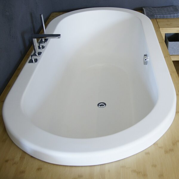 Carol 74.75 x 35.75 Drop In Soaking Bathtub by Aquatica