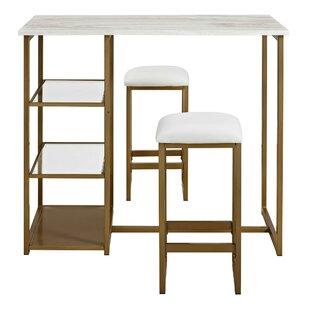 Denham 3 Piece Pub Table Set