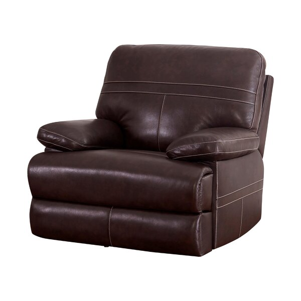 Koehn Leather Power Recliner by Red Barrel Studio Red Barrel Studio