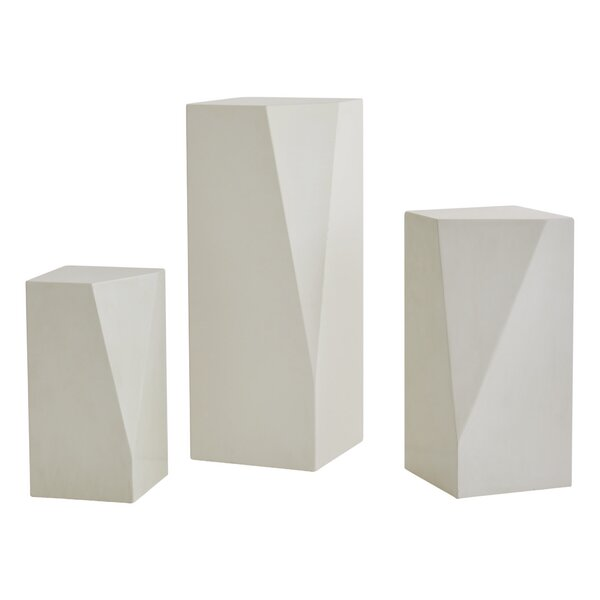 Facet Pedestal Plant Stand By Global Views