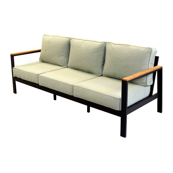 Townsend Outdoor Patio Sofa with Cushions by Brayden Studio
