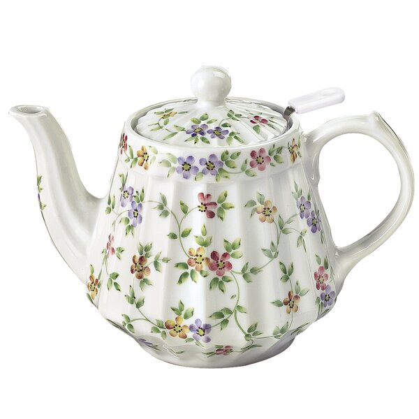 Garden Bouquet 36 oz. Porcelain China Teapot by Andrea by Sadek
