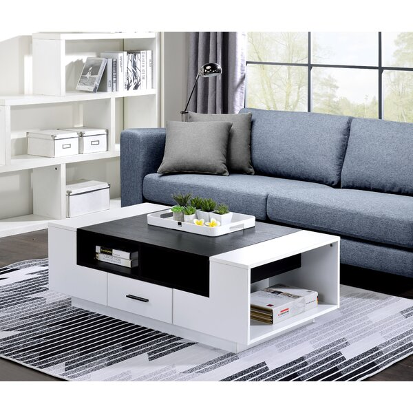Madhava Block Coffee Table With Storage By Ebern Designs