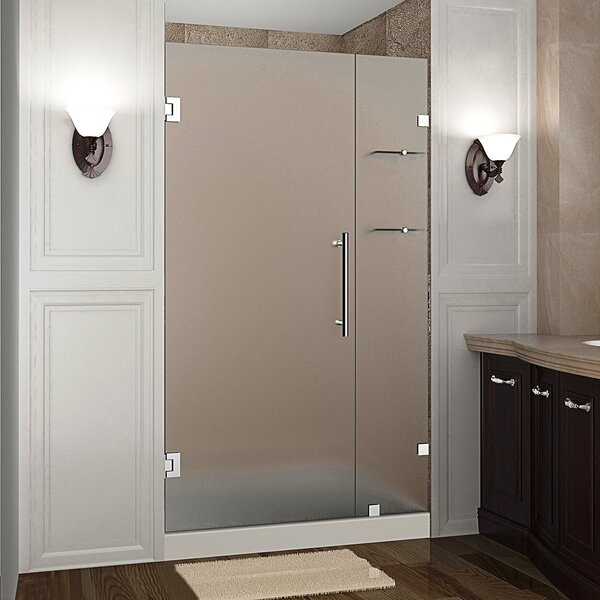 Nautis GS 37 x 72 Hinged Completely Frameless Shower Door with Shelves by Aston