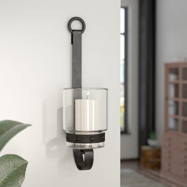 Glass/Metal Sconce by Trent Austin Design