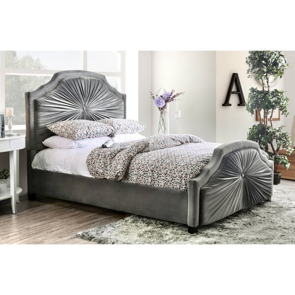 Arikara Upholstered Standard Bed by Bungalow Rose