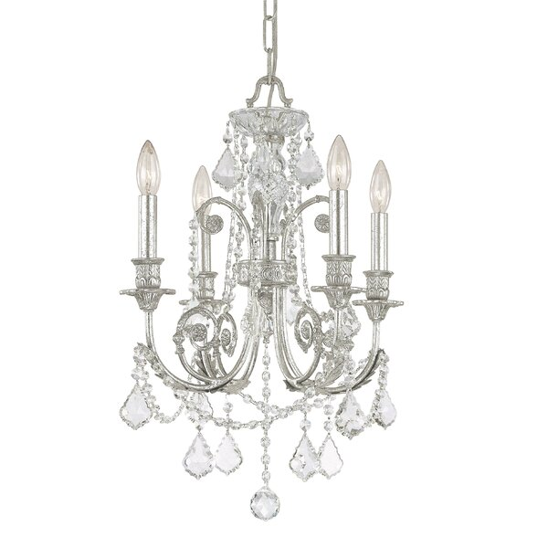 Frida 4 - Light Candle Style Classic / Traditional Chandelier with Wrought Iron Accents by House of Hampton House of Hampton