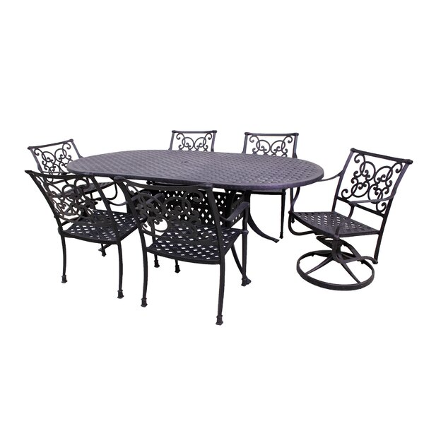 Elzada 7 Piece Dining Set by Fleur De Lis Living
