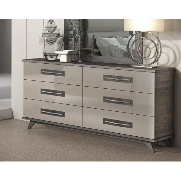 Luther 6 Drawer Double Dresser by Brayden Studio