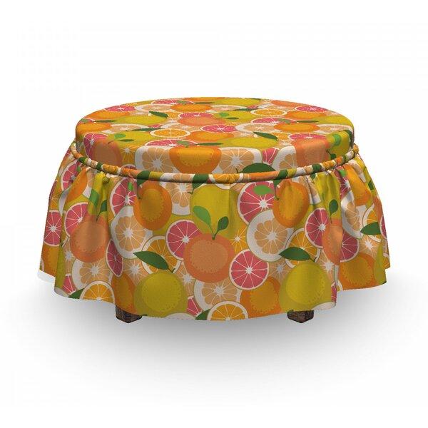 Fresh Tasty Citrus Fruit Ottoman Slipcover (Set Of 2) By East Urban Home