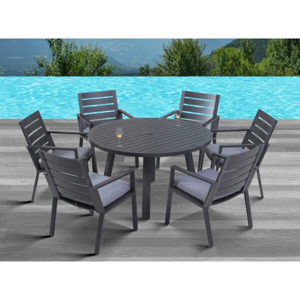 Moralez 7 Piece Dining Set with Cushions