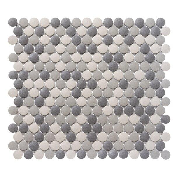 Zone 0.8 x 0.8 Porcelain Mosaic Tile in Dark Blend by Emser Tile