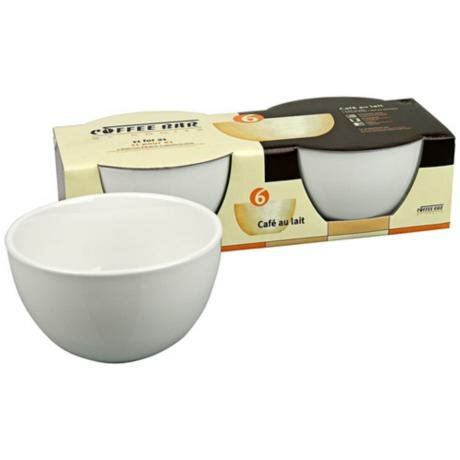 Coffee Bar 20 oz. Cafe Au Lait Bowl (Set of 2) by Konitz
