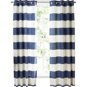 nautica cabana stripe curtain panels set of 2