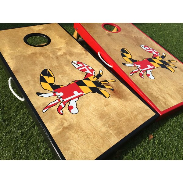 Maryland Crab Cornhole Board Set with Matching Toss Bags by West Georgia Cornhole