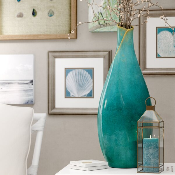 Bloomfield Floor Vase by Rosecliff Heights