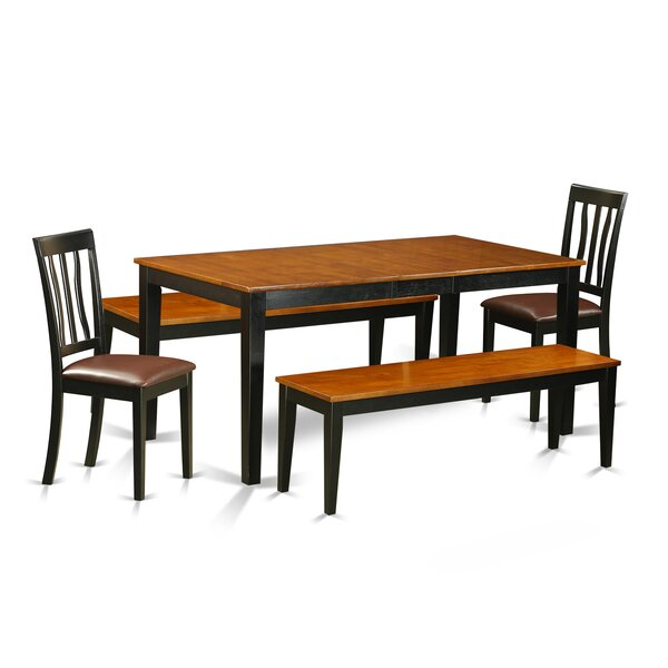 Pillar 5 Piece Extendable Solid Wood Dining Set by August Grove