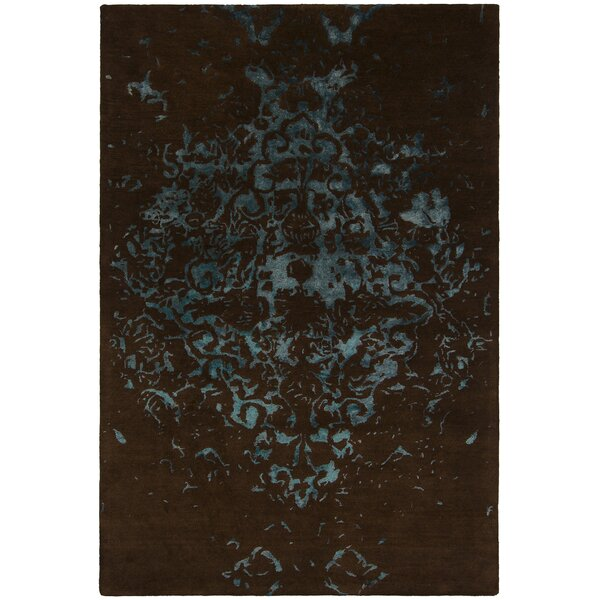 Kassie Patterned Contemporary Brown/Teal Area Rug by Bloomsbury Market