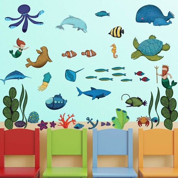 Ocean Peel and Stick Under the Sea Wall Decal by My Wonderful Walls