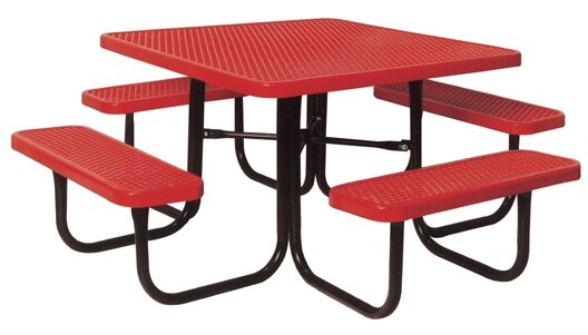 Square Picnic Table with Diamond Pattern by Ultra Play