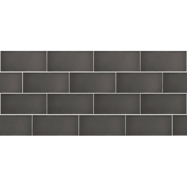 Secret Dimensions 3 x 6 Glass Subway Tile in Frosted Gray by Abolos