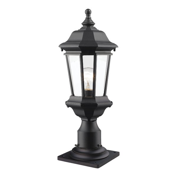 Bibb 1-Light Pier Mount Light by Fleur De Lis Living