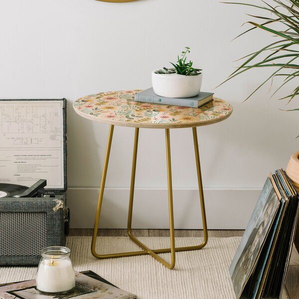 Pimlada Phuapradit Ditsy Floral Field End Table by East Urban Home