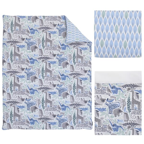 DwellStudio Safari Skies Animal/Jungle 3 Piece Crib Bedding Set by DwellStudio