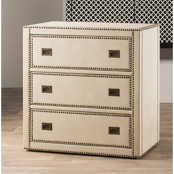 Emmanuel Trunk Style 3 Drawer Accent Chest by House of Hampton House of Hampton