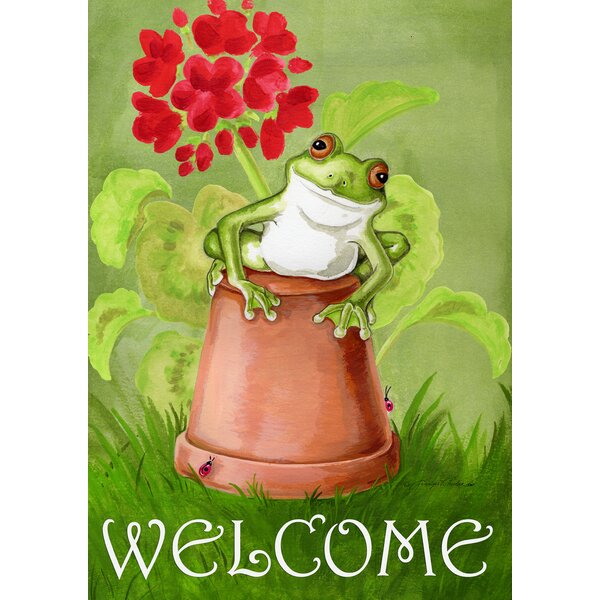 Potted Frog 2-Sided Garden flag by Toland Home Garden